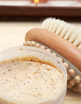 Chemical exfoliation and brush
